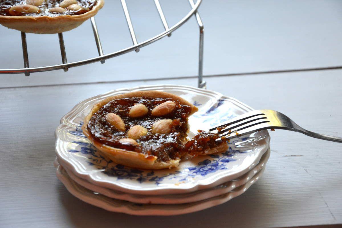 Tartelettes à la crème de pruneaux et aux amandes