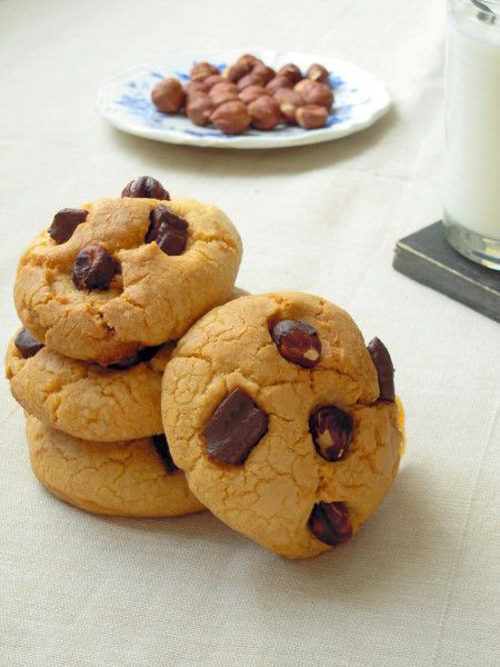 Cookies au caramel, chocolat &amp&#x3B; noisettes
