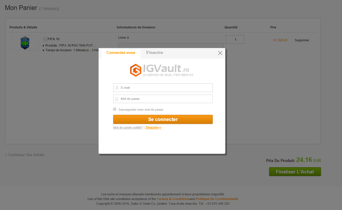creation compte igvault.fr