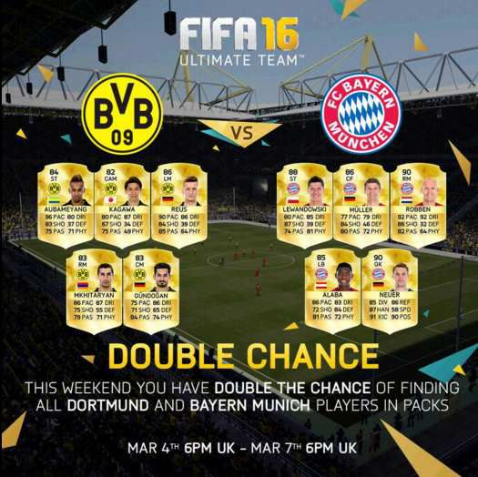 double chance pack fut 16