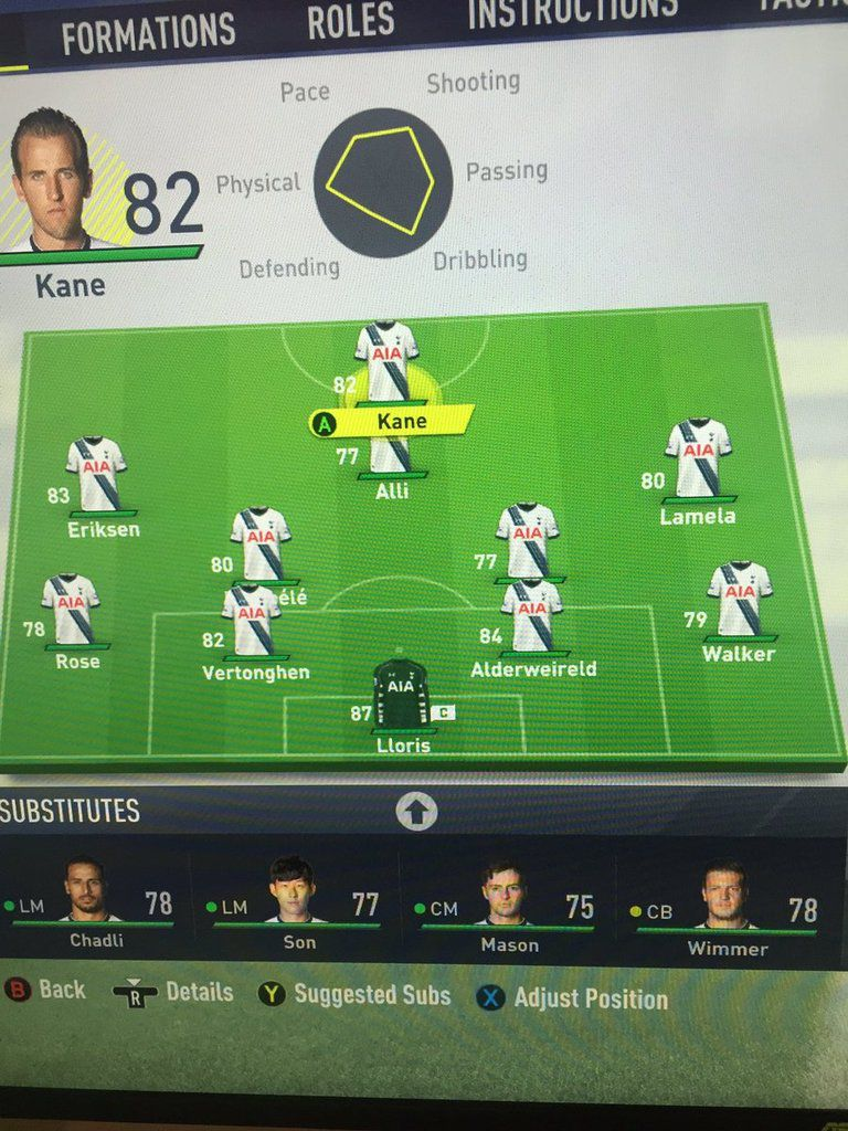 notes fifa fut 17 tottenham