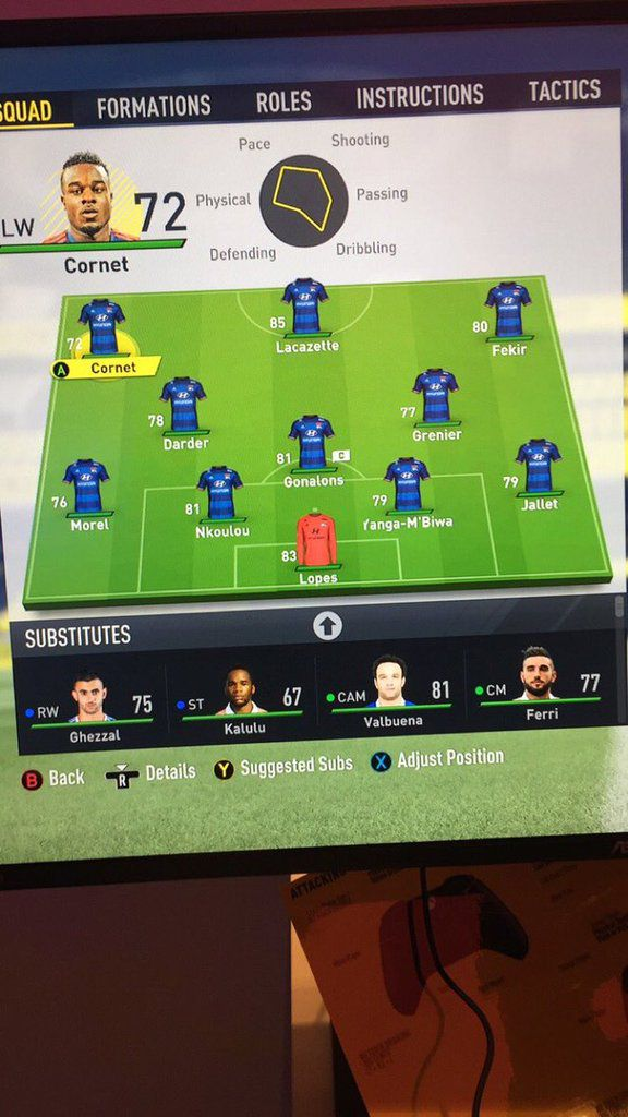 LYON NOTES FIFA FUT 17