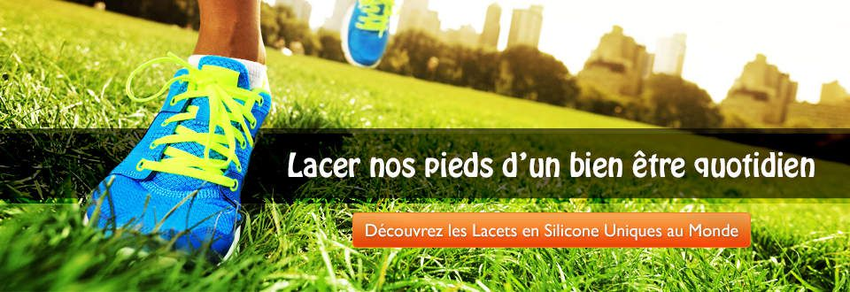 lacets silicone Freelace Trail et Triathlon
