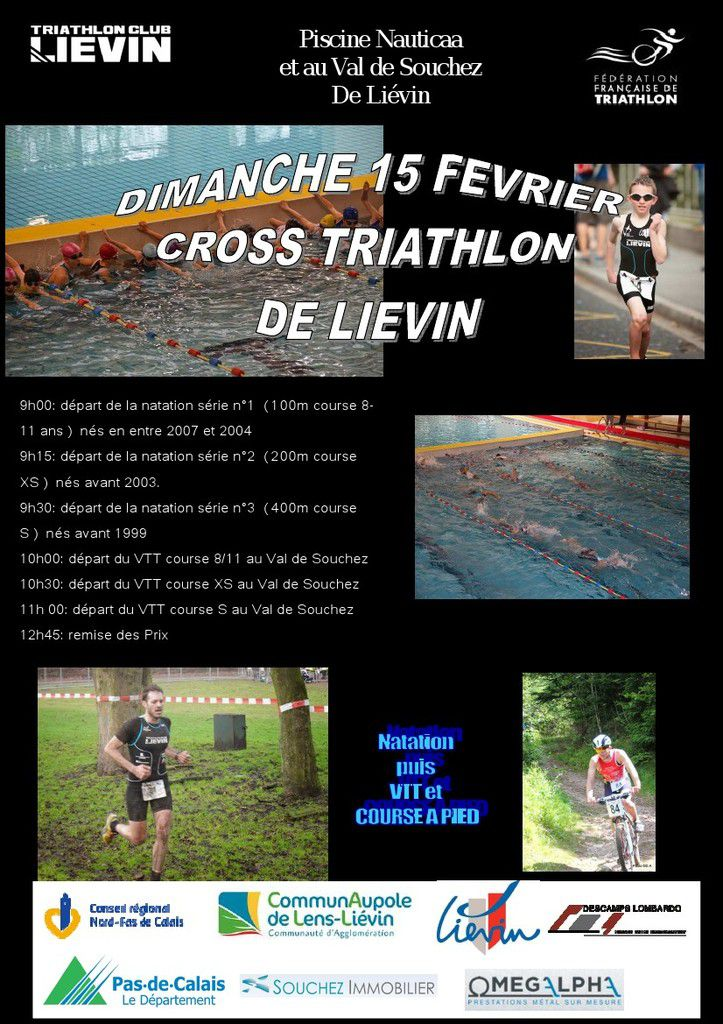 Cross Triathlon de Liévin (15/02/2015)