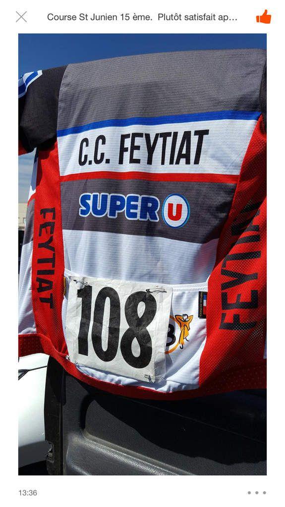Axel Fernandez fait déjà briller le maillot du CCfeytiat avec une très belle 15e place à la St Junien St Junien félicitations à toi et aux autres copains  Seb et David