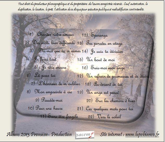 Album 2013 &quot&#x3B; Et tout recommence &quot&#x3B;