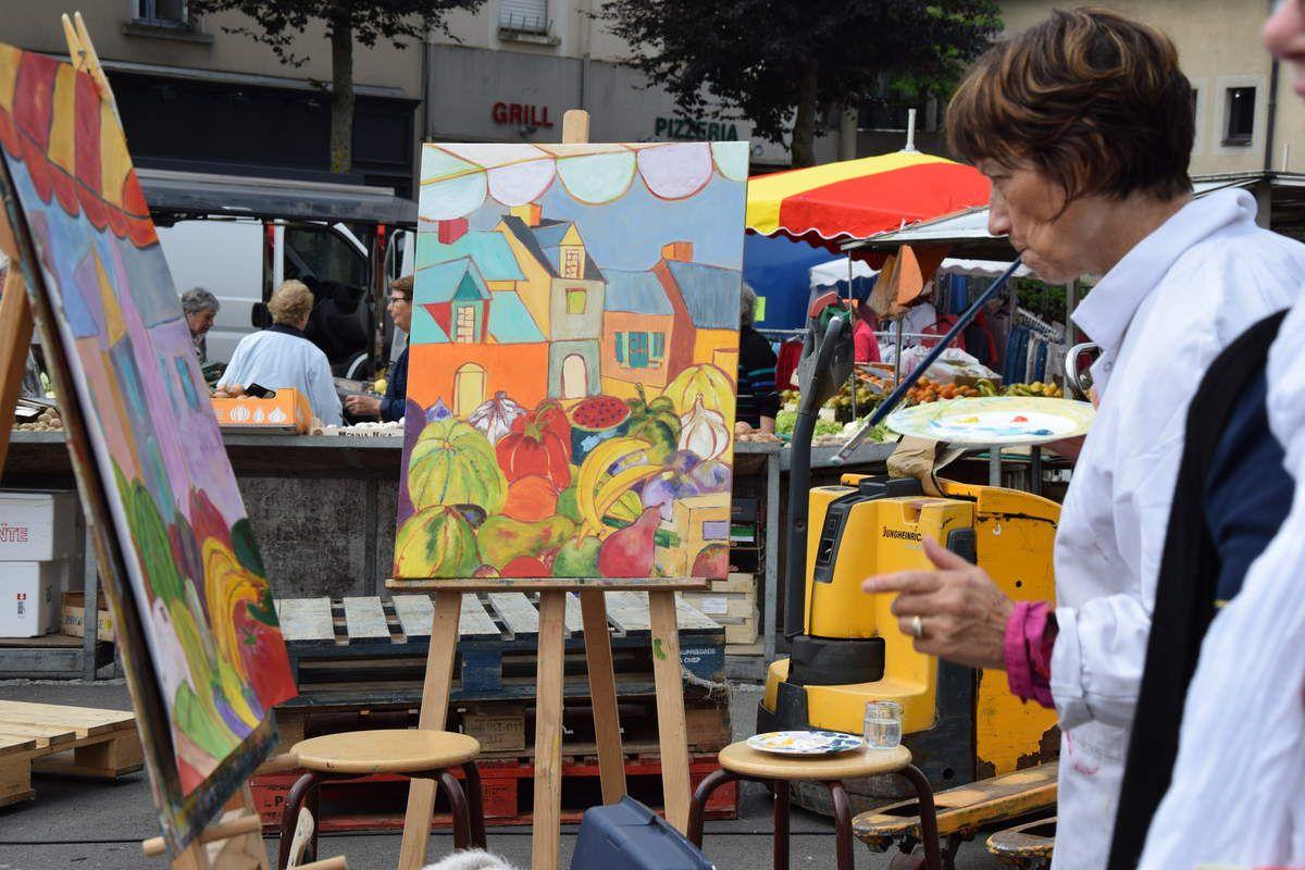 Jour de marché pour l'Atelier d'à Côté