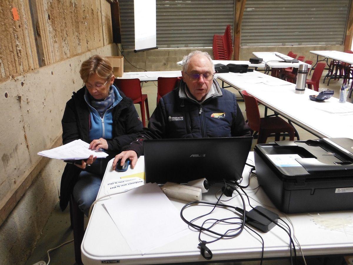 Marie-France et Alain, membres du Codep 22.
