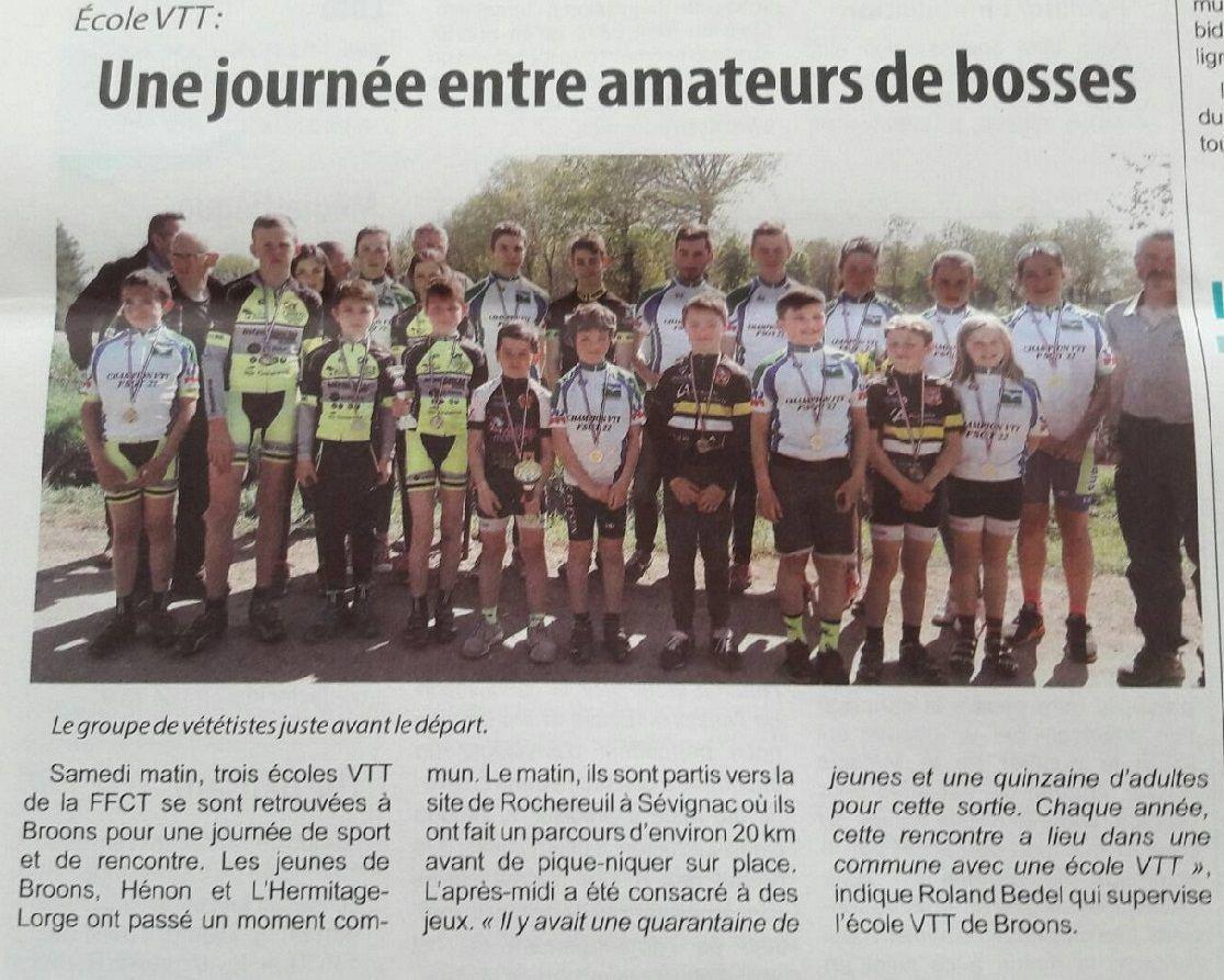 """Extrait du journal """"l'Hebdomadaire"""" envoyé par Marie-France Sagory."""