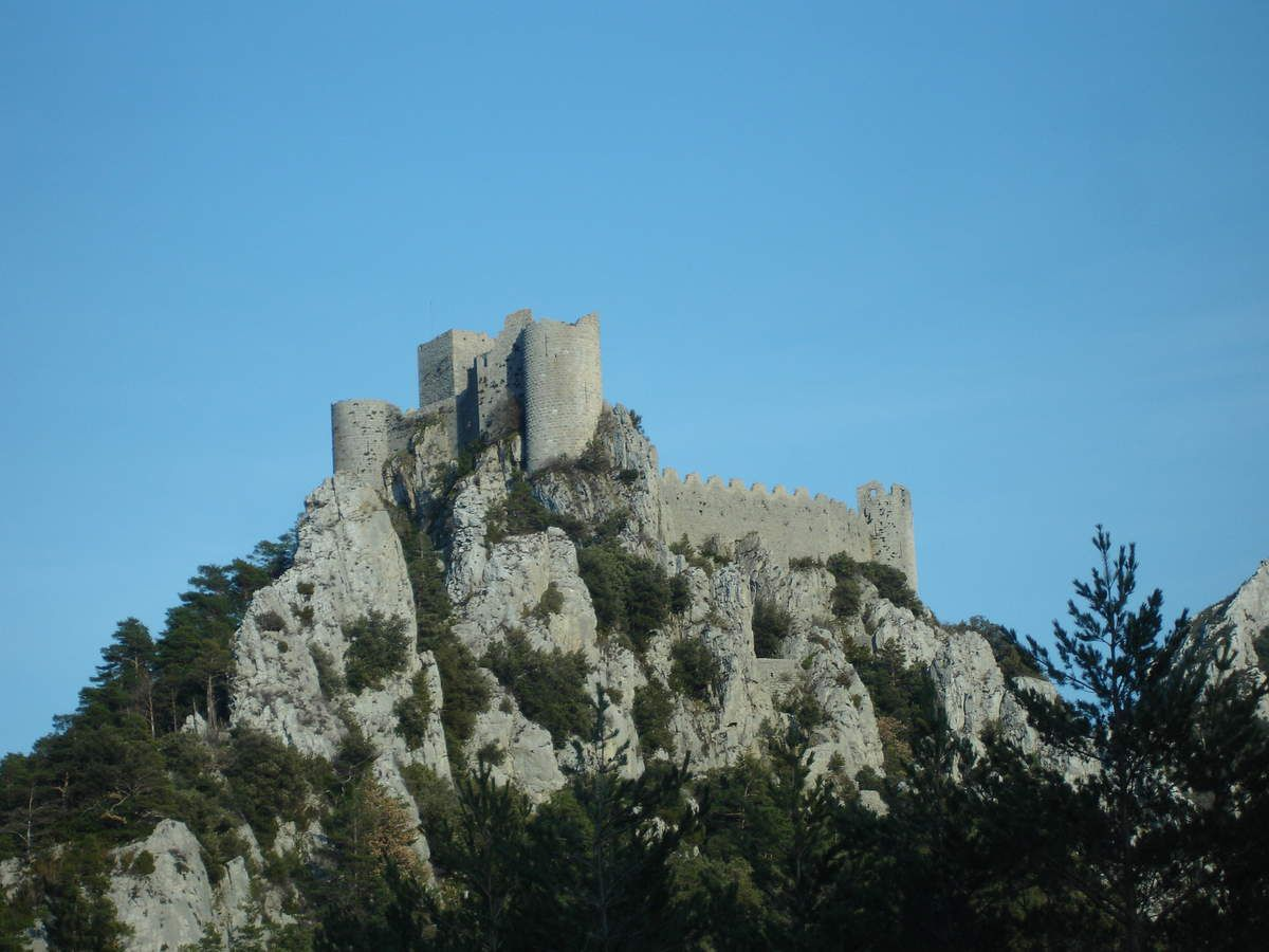 The Cathar castles, by Hope, Luna and Capucine.   being 20 years ...