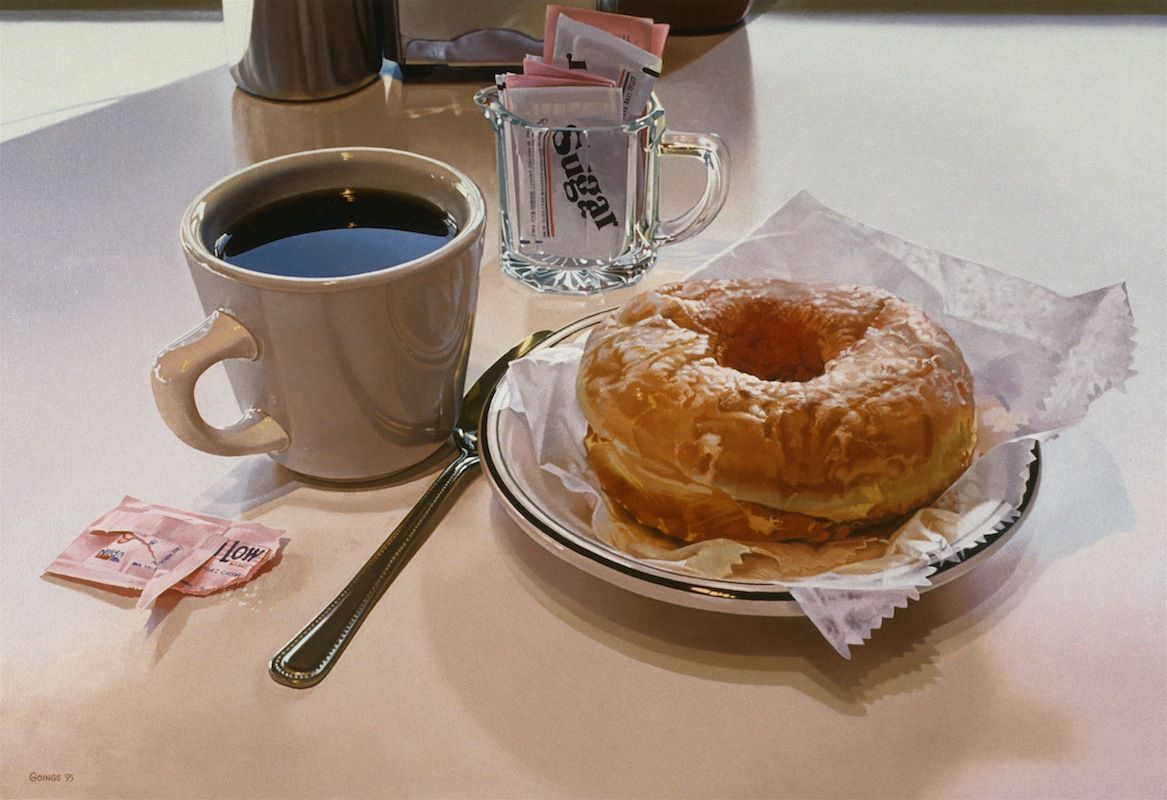 Ralph Goings, Donut, 1995