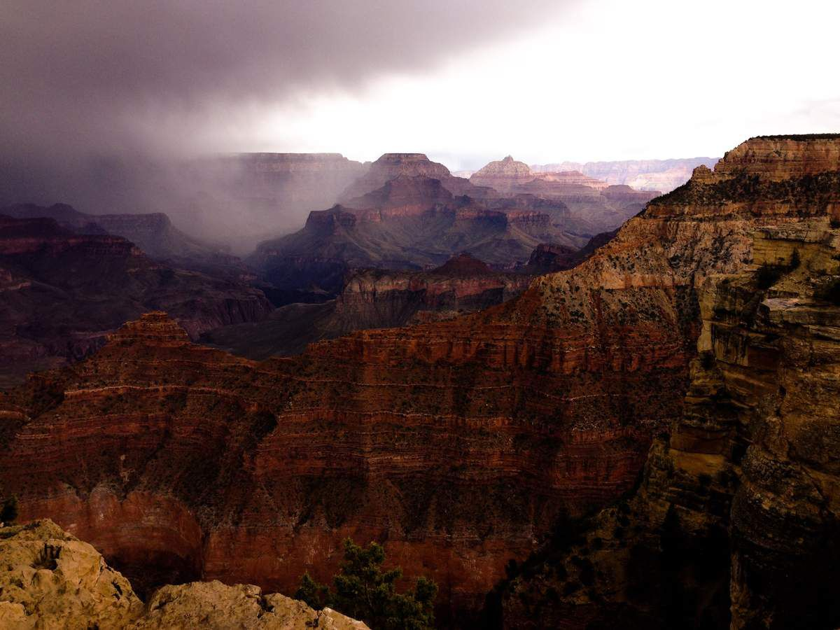 La tempête s'en va - Grand Canyon