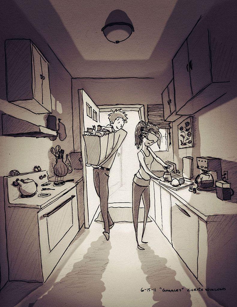 Ilustrador sorprende a su mujer con ilustraciones de su vida diaria