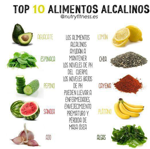 Los 10 super alimentos ALCALINOS