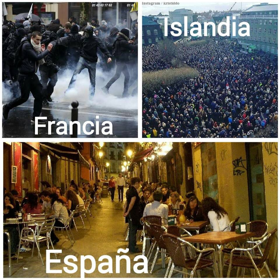 La diferencia entre España, Islandia y Francia ¡COMPARTE!