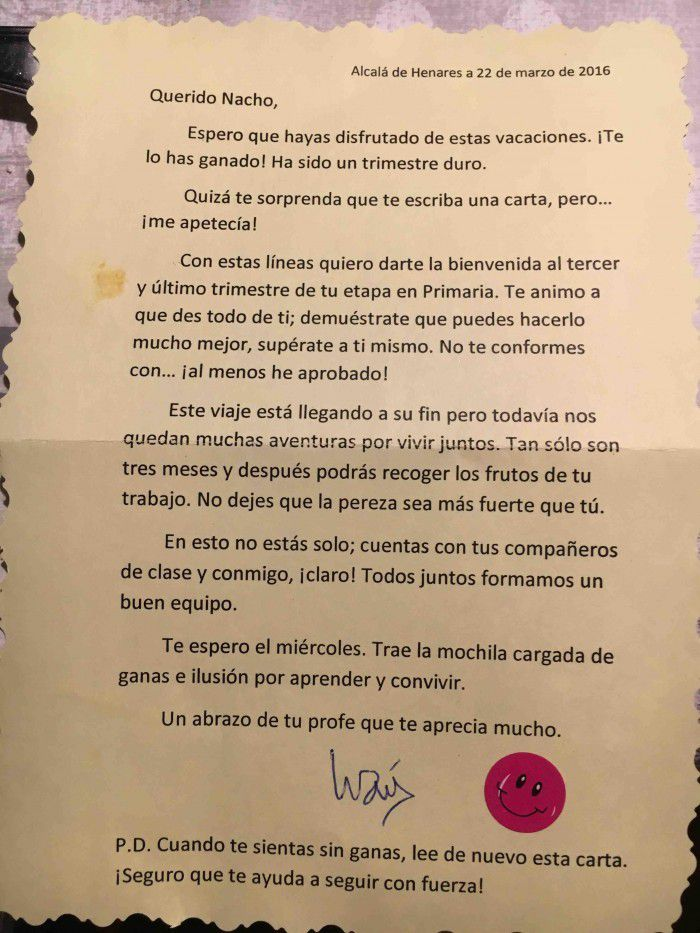 La carta de un profesor a sus alumnos que es un auténtico ejemplo de motivación