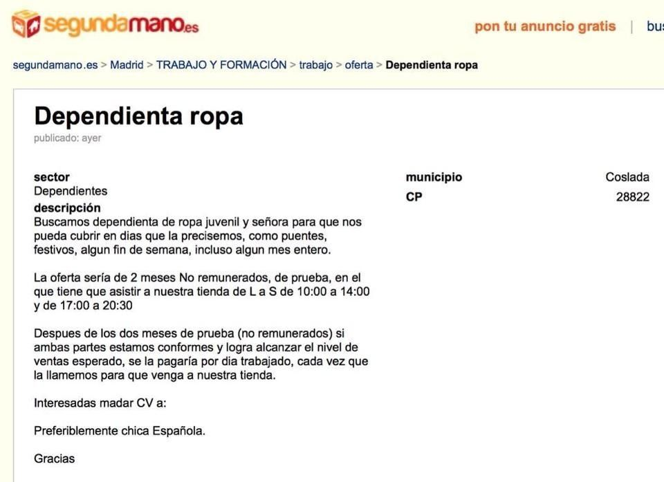OFERTAS DE EMPLEO TYPICAL SPANISH