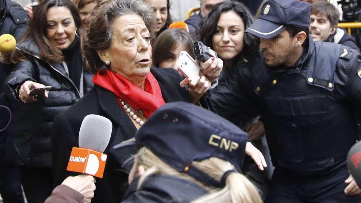 Rita Barberá a su salida del Tribunal Supremo tras su comparecencia