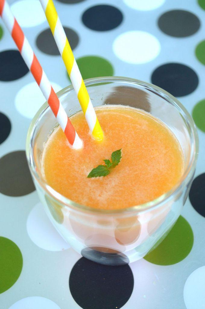 Smoothie melon, nectarine et abricot