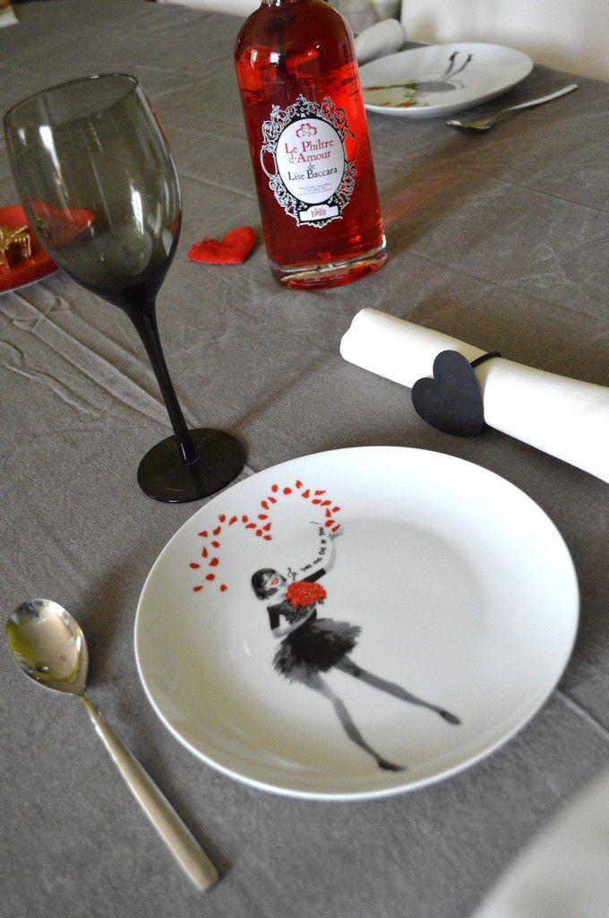 ★ idée déco: ma table de noël sur le thème de l'amour ★