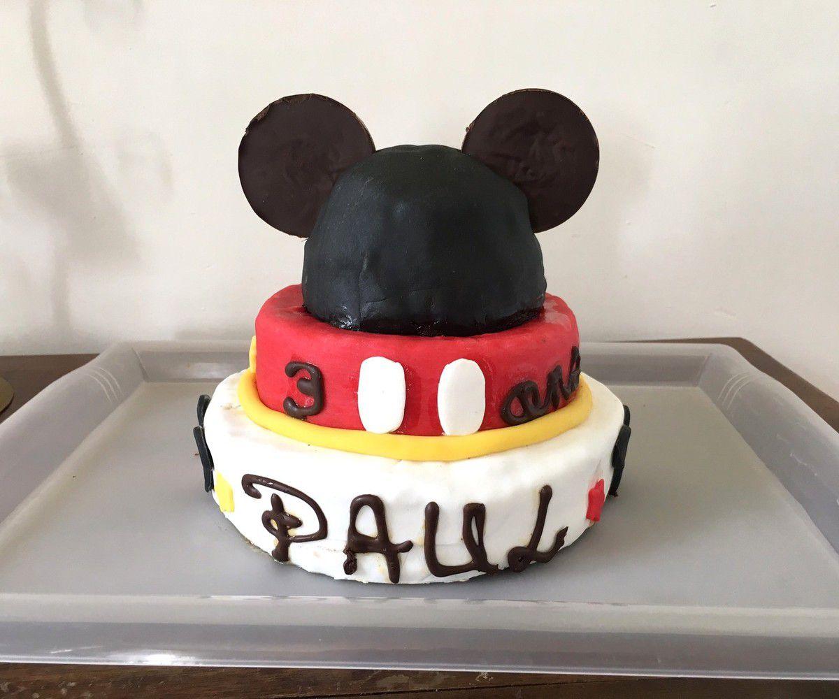 Gateau Mickey Mouse pour mon grand garçon de 3 ans