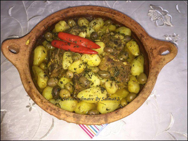 Tajine topinambours et olive maslala طاجين بطاطس قصبية وزيتون مسلالة
