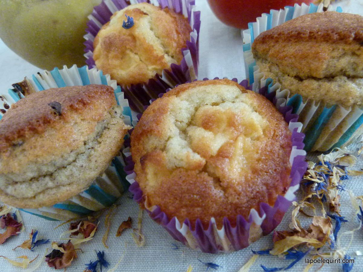Muffins pomme-framboise - muffins choco