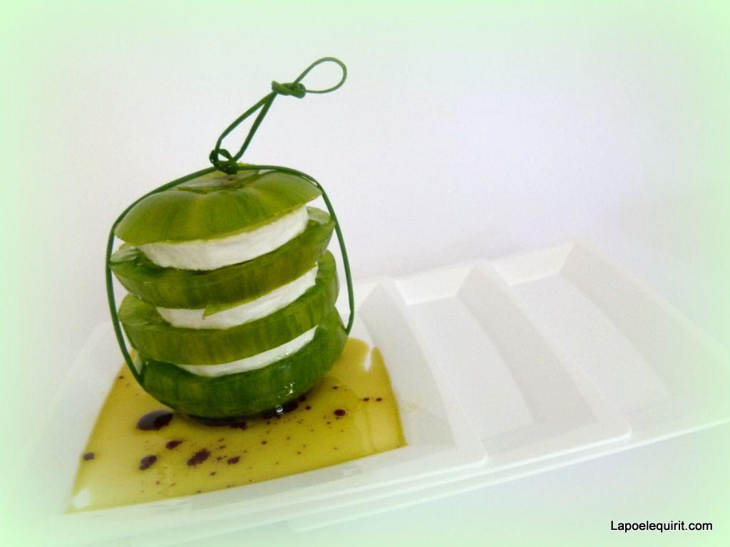 Mille-feuille de tomate Green Zébra