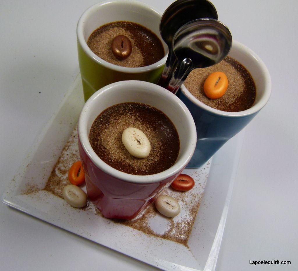 Délicieuses crèmes choco-café ... douceur &quot&#x3B;raisonnée&quot&#x3B;, sans culpabiliser !