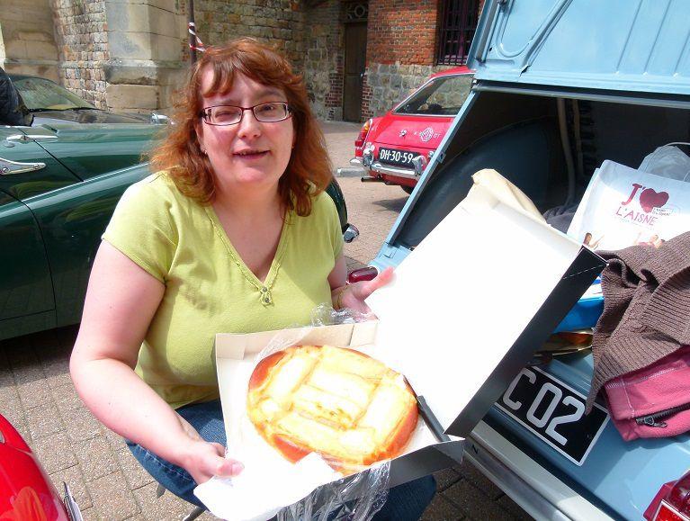 Découverte de la tarte au Maroilles avec Maria Cardoso...c'était bon hein ?