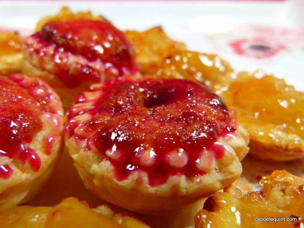 Crème d'amande et nappage framboise