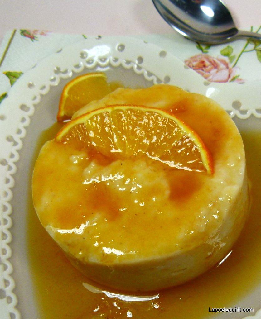 Ramequins de semoule de millet, caramel d'orange#sans gluten