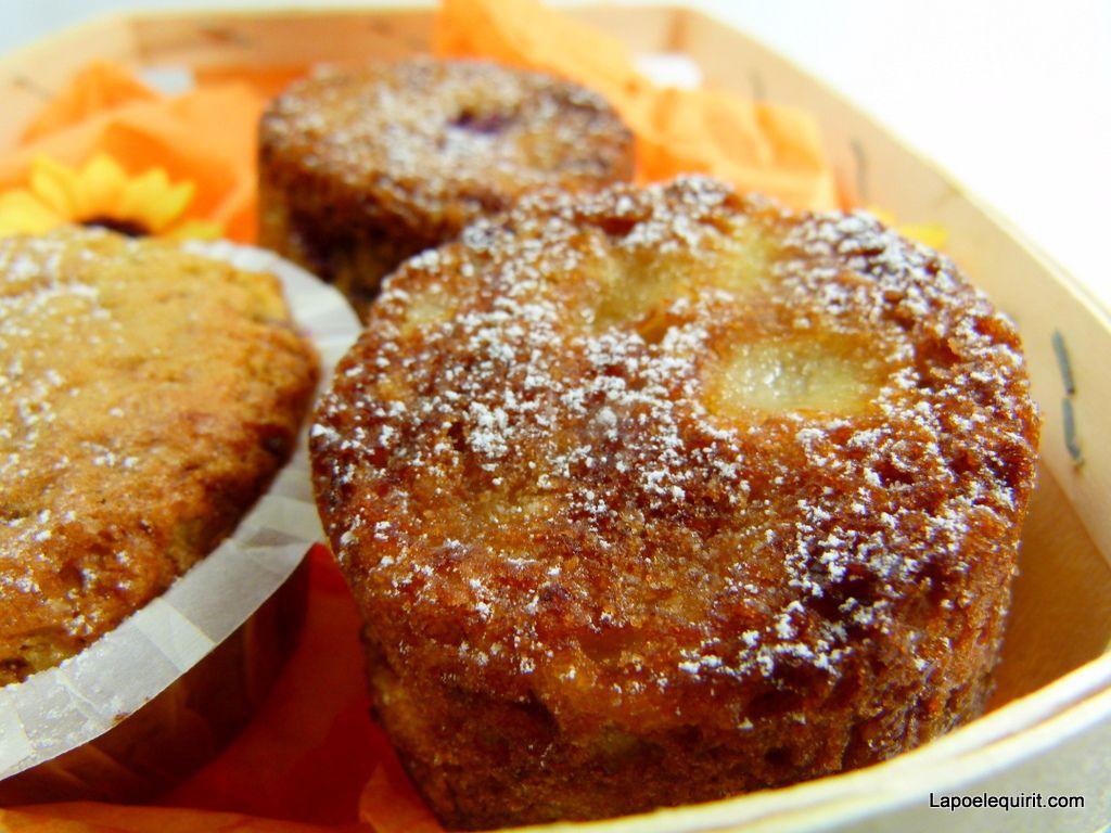 Muffins aux flocons d'avoine, pommes-framboise (avec Lesieur)
