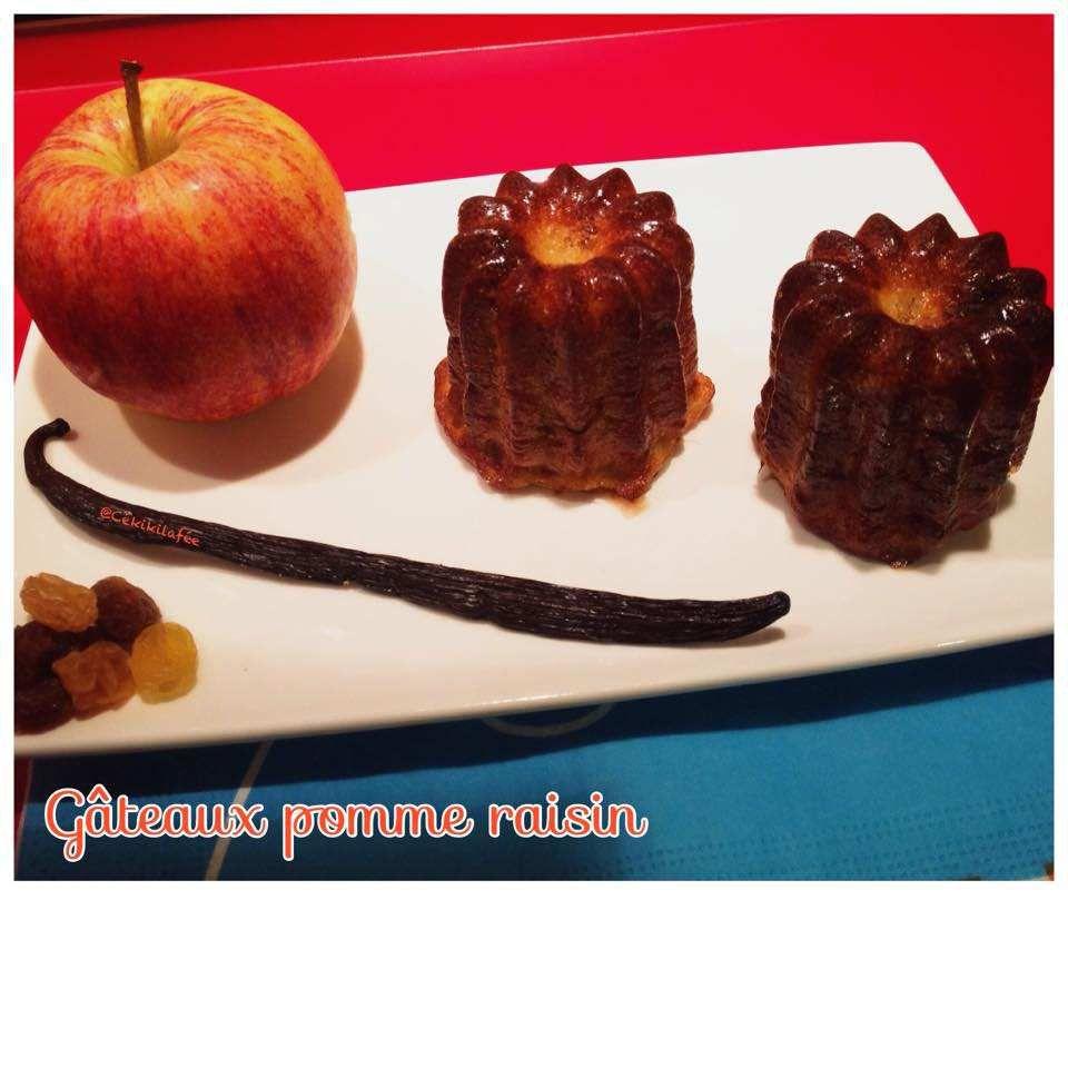 Gâteaux pomme raisin