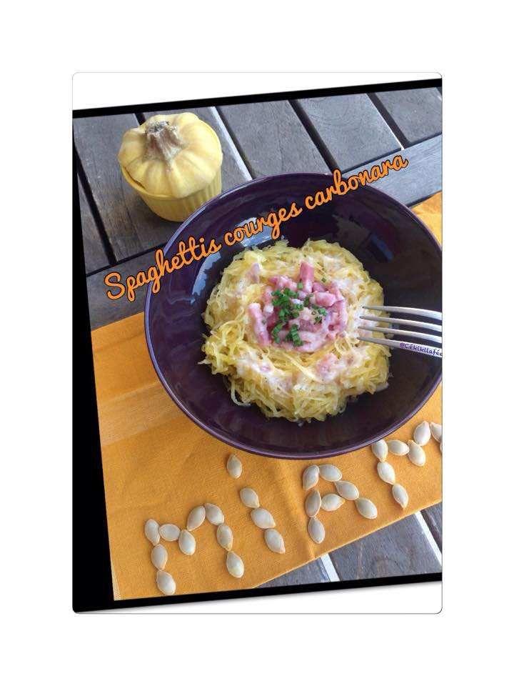 Spaghettis courge carbonara
