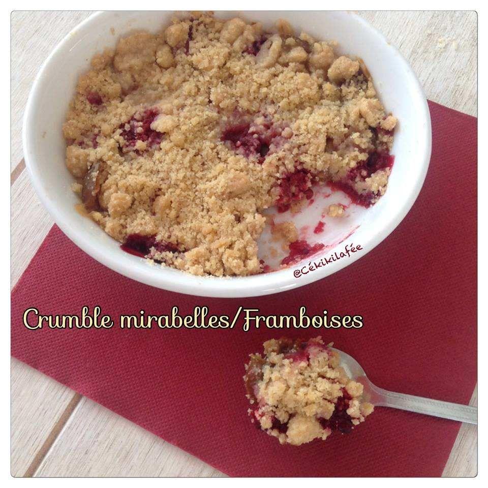 Crumble mirabelle/framboises