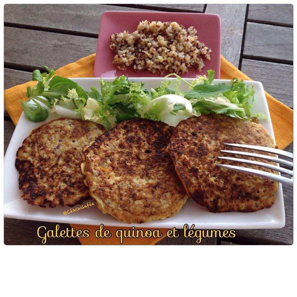 Galettes de quinoa et légumes
