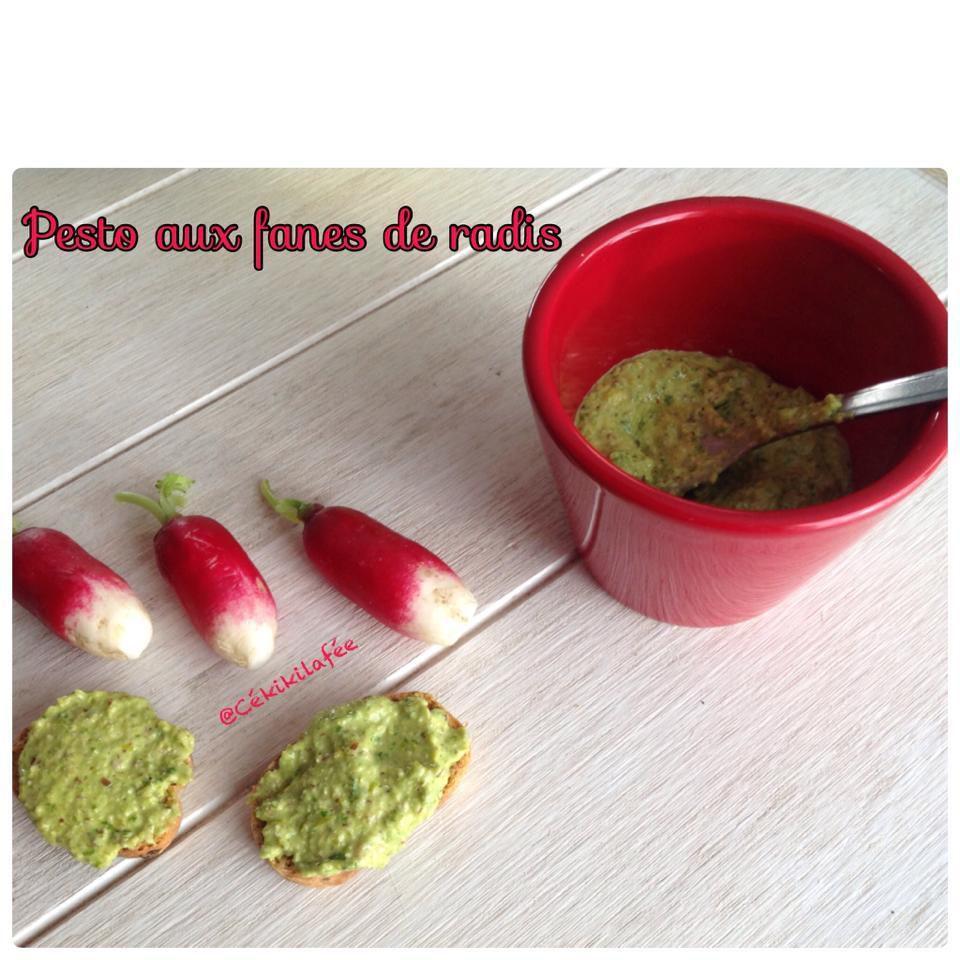 Pesto aux fanes de radis