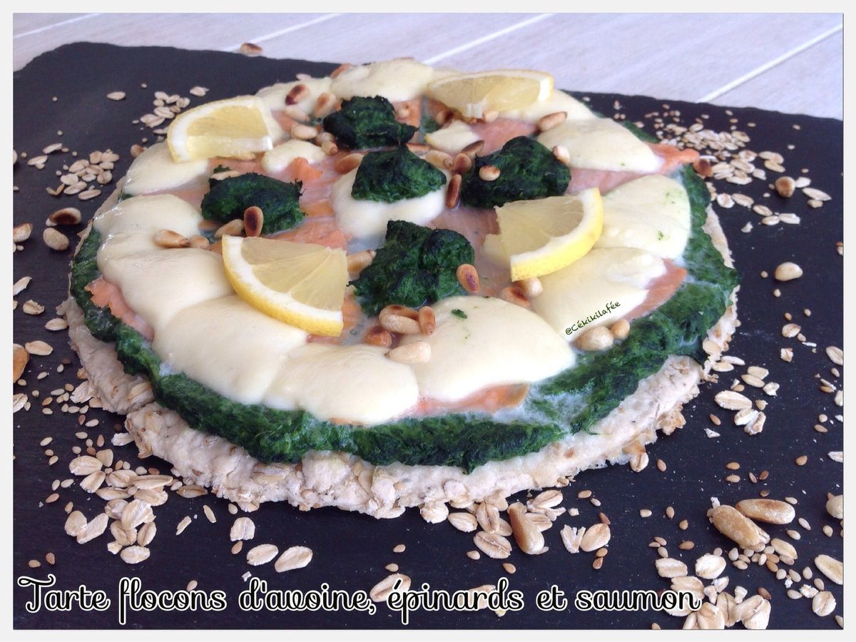 Tarte avoine saumon épinards