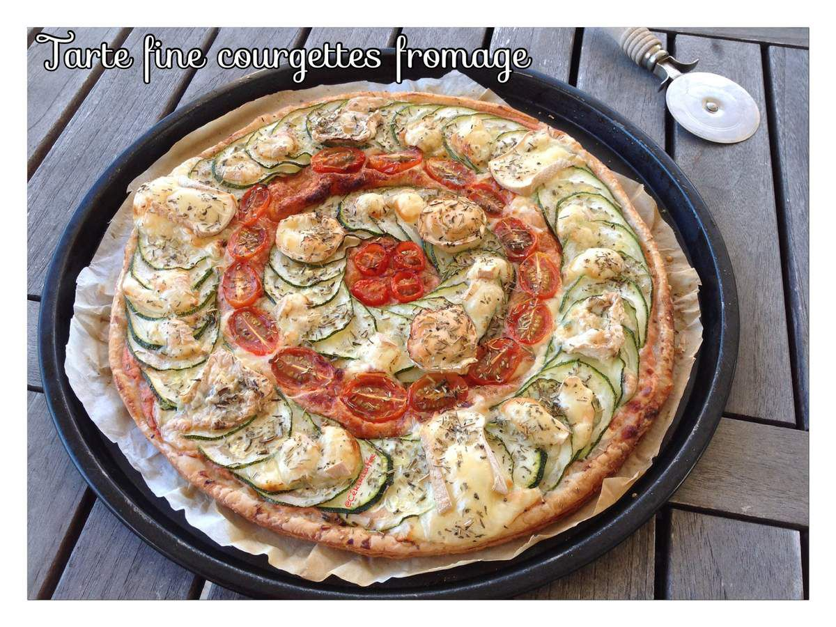 Tarte fine courgettes fromage