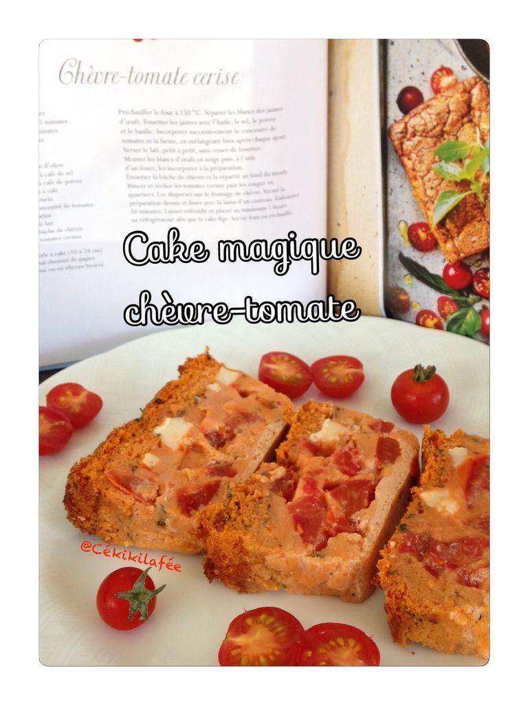 Cake magique chèvre-tomate