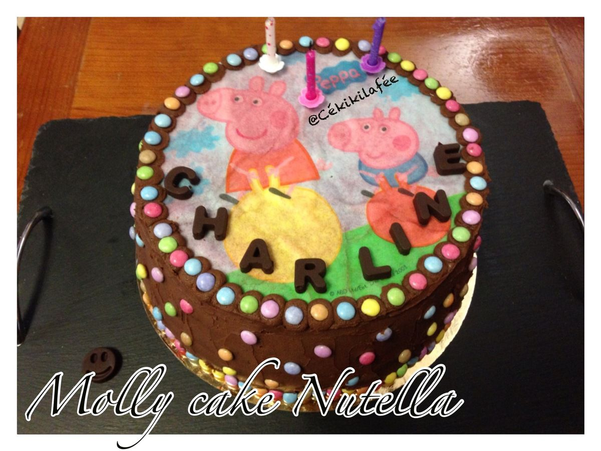 Molly cake nutella Peppa Pig