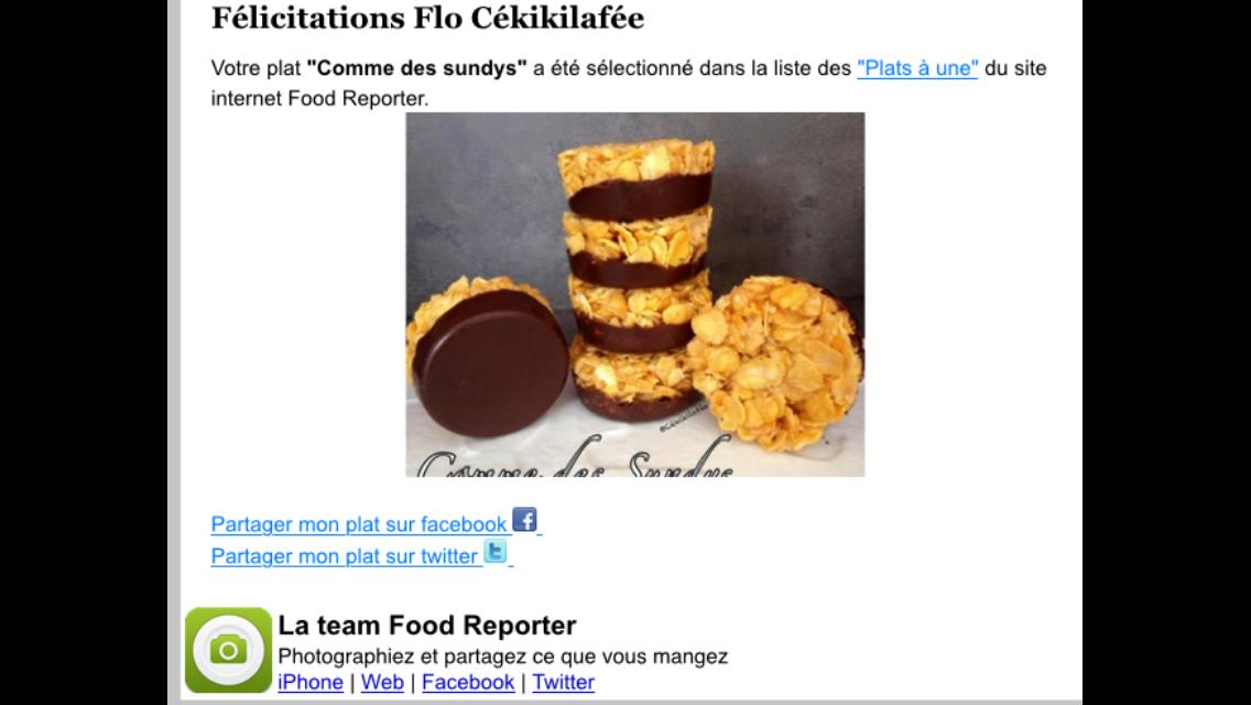 Cette recette vous a vraiment plus, elle est même à la une de FOOD REPORTER aujourd'hui ;-)