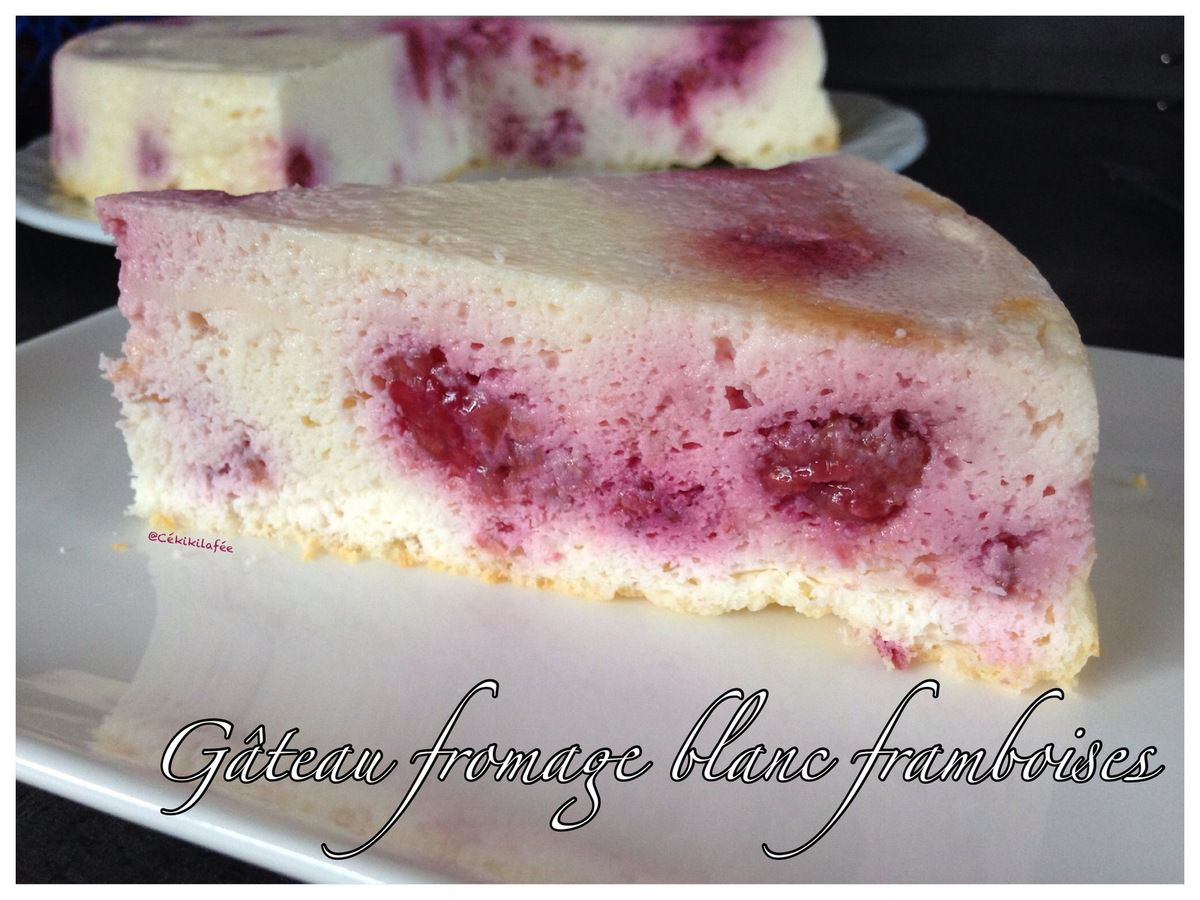Gâteau fromage blanc framboises