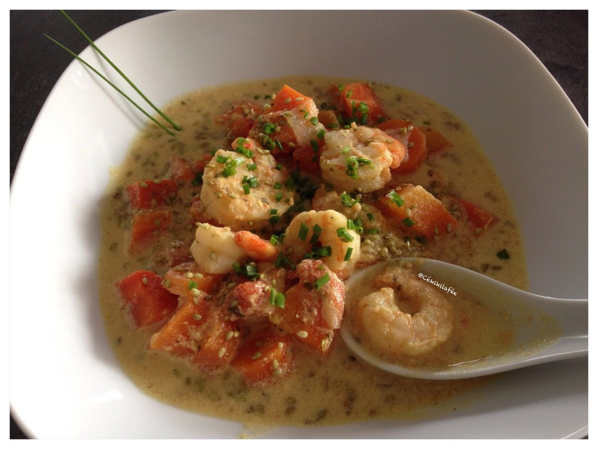 Potage carottes coco crevettes(Cookeo) - #BatailleFood34