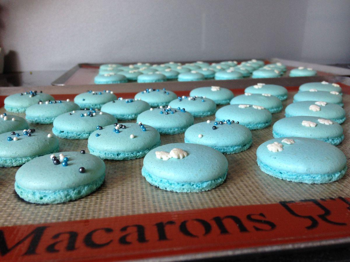 Les macarons bleus Reine des neiges