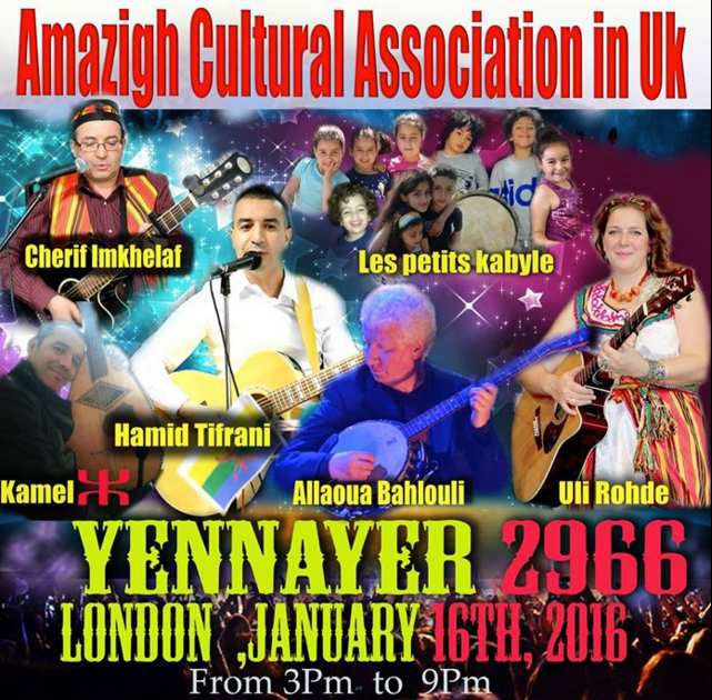 Amazigh Cultural Association in UK celebrates Yennayer in London.