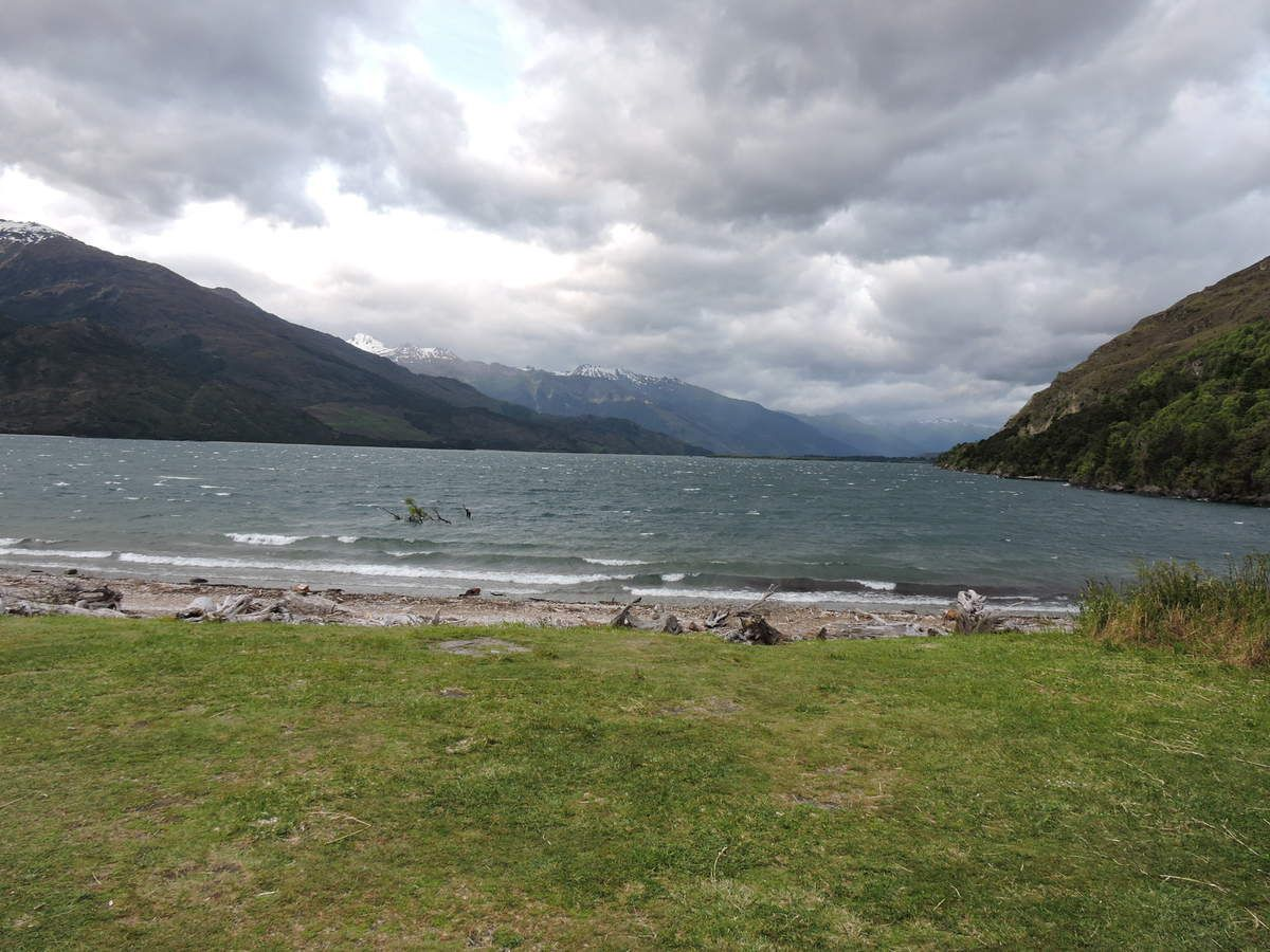 Vue depuis le Doc Campsite - View from the DOC Campsite (Lake Wanaka)