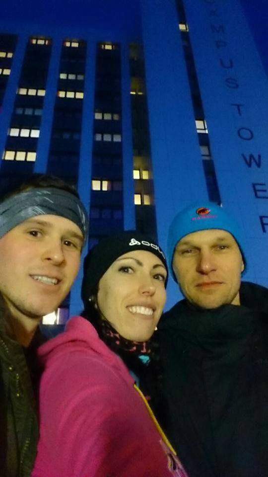 Florian, Bianca und Stefan vorm CampusTower