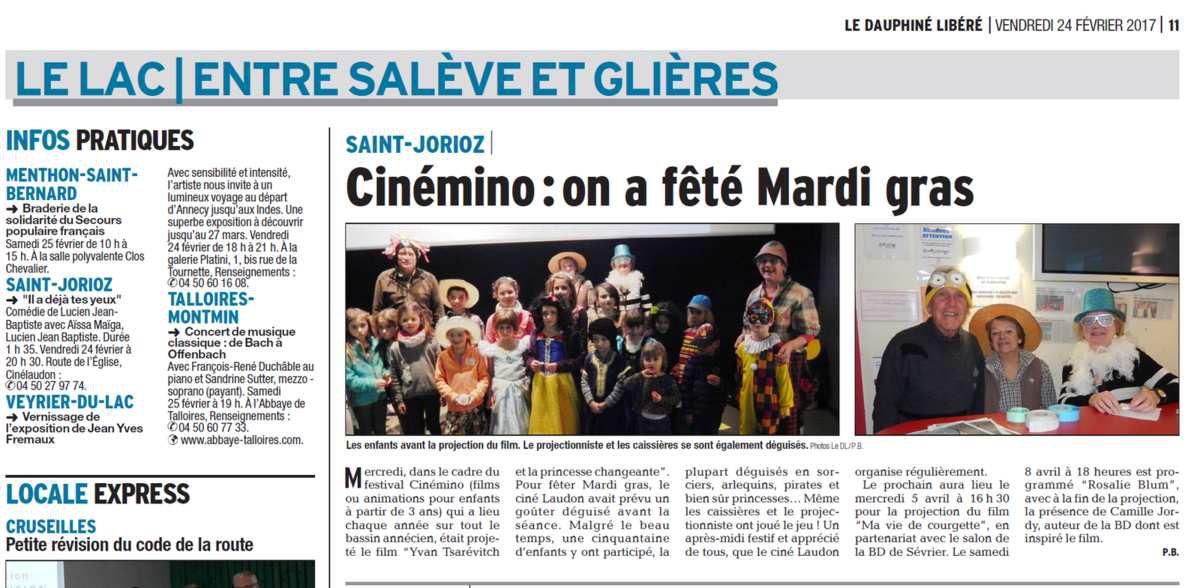 CinéLaudon sur le Dauphiné pour Mardi Gras